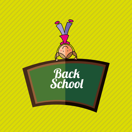 back view student: students back to school design Illustration
