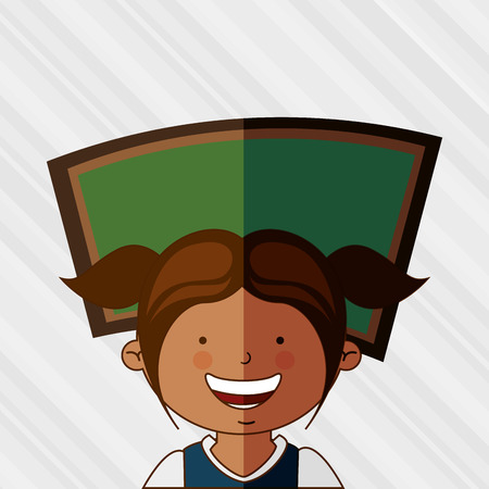 back view student: students back to school design, vector illustration eps10 graphic
