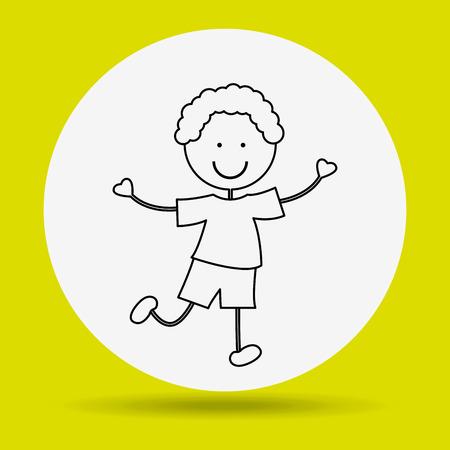 happy kids: kids happy design Illustration