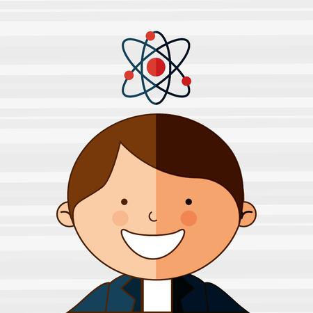 preschool poster: students back to school design Illustration