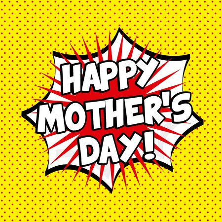 mom and pop: happy mothers day design, vector illustration eps10 graphic Illustration