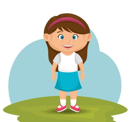cartoon park: little kids design, vector illustration eps10 graphic