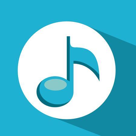 key signature: music note design, vector illustration eps10 graphic