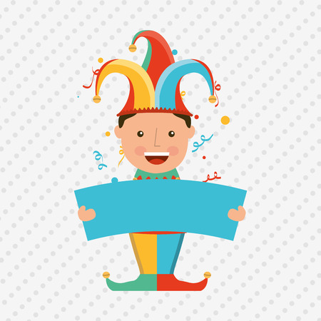 comedian: jester carnival design, vector illustration eps10 graphic Illustration