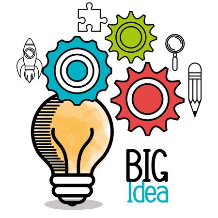 pallette: Grand design idée, illustration graphique eps10