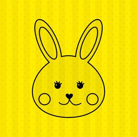 buny: cute rabbit design, vector illustration eps10 graphic