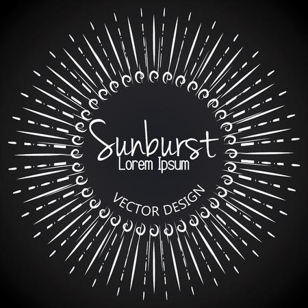 sunburst: sunburst pattern design, vector illustration eps10 graphic