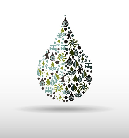water concept: water concept design, vector illustration eps10 graphic Illustration
