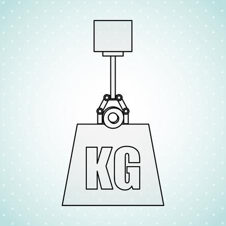 kilo: weight measurement design, vector illustration eps10 graphic