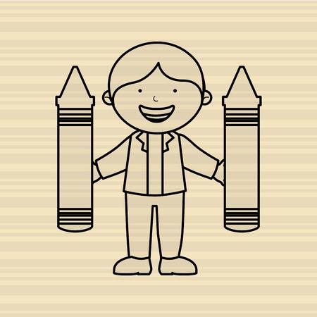 preschool poster: students back to school design, vector illustration eps10 graphic