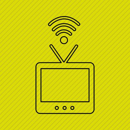 antena: wireless signal design, vector illustration eps10 graphic Illustration