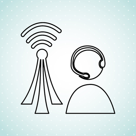 wireless signal: wireless signal design, vector illustration eps10 graphic Illustration
