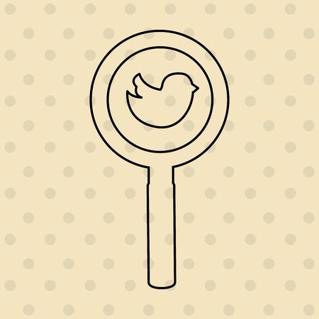 vidrio: diseño de medios de comunicación social, ejemplo gráfico del vector eps10