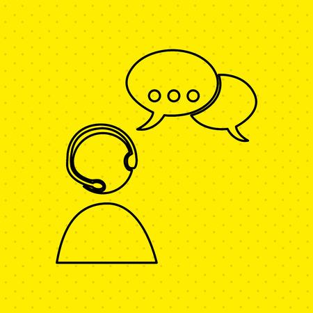 helpline: customer service design, vector illustration