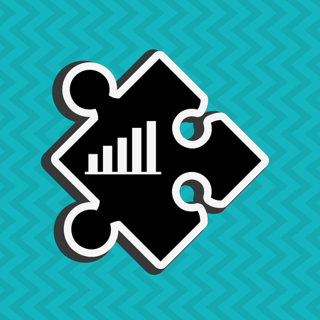 piece: puzzle piece design, vector illustration eps10 graphic