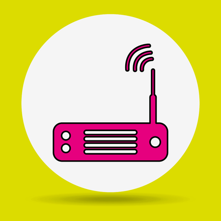 wireless signal: wireless signal design, vector illustration