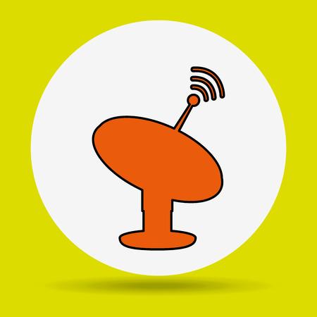 antena: wireless signal design, vector illustration