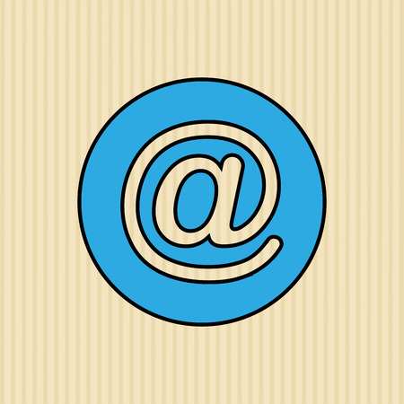 arobase: arroba icon design, vector illustration eps10 graphic