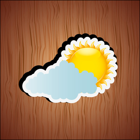 cloudy day: cloudy day design, vector illustration eps10 graphic