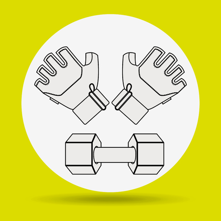 hand lifting weight: gym concept design, vector illustration eps10 graphic
