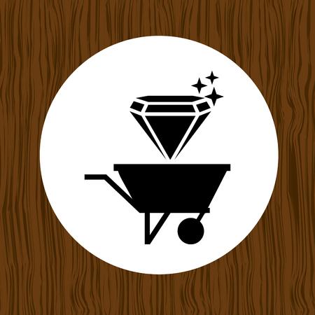 earth moving: mining industry design, vector illustration eps10 graphic Illustration