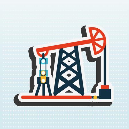 petrochemical plant: oil industry design, vector illustration eps10 graphic Illustration