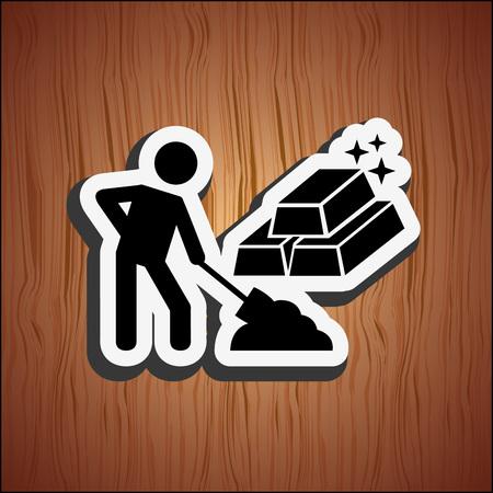 illustration industry: mining industry design, vector illustration eps10 graphic Illustration