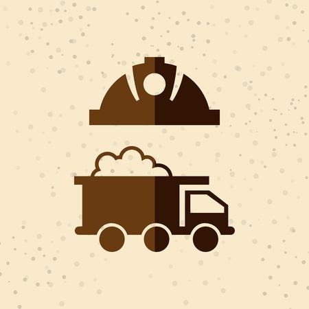 excavating: mining industry design, vector illustration eps10 graphic Illustration