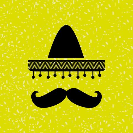 drapeau mexicain: mexicain culture design ic�ne, vecteur illustration graphique eps10 Illustration