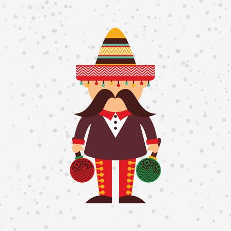 bandera de mexico: diseño de icono de la cultura mexicana, ejemplo gráfico del vector eps10 Vectores