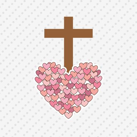 the sacrament: catholic icon design, vector illustration eps10 graphic
