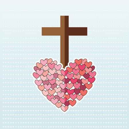 catholic icon design, vector illustration eps10 graphic