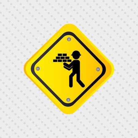 industrial safety: under construction design, vector illustration eps10 graphic Illustration