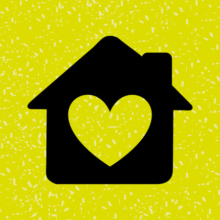 love icon: sweet home design, vector illustration eps10 graphic