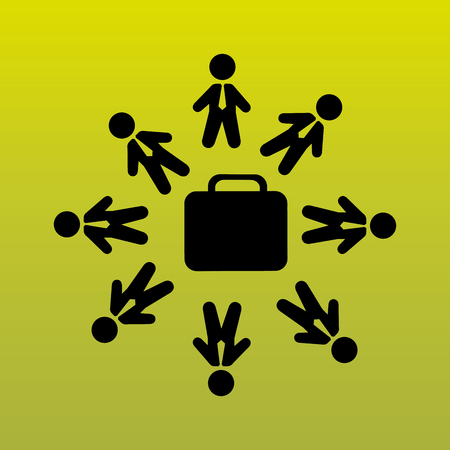 casual business meeting: business people design, vector illustration eps10 graphic Illustration
