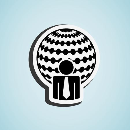 sphere standing: business people design, vector illustration eps10 graphic Illustration