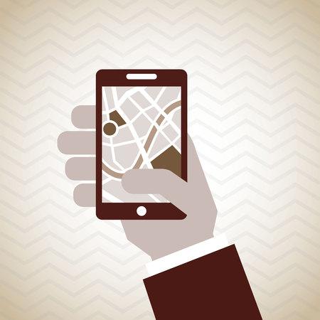 gps navigator: gps navigator design, vector illustration eps10 graphic