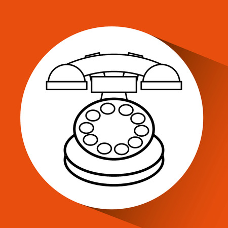old phone: old phone design, vector illustration eps10 graphic