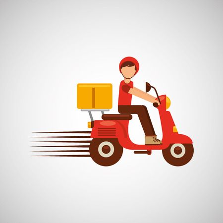 fast food restaurant: food delivery design, vector illustration eps10 graphic Illustration
