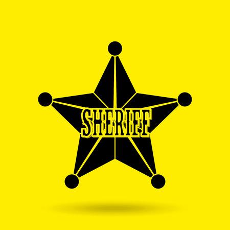sherif: wild west icon  design, vector illustration eps10 graphic
