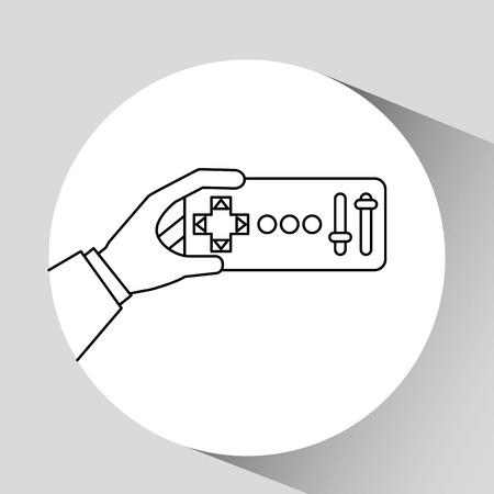 remote: remote control design, vector illustration graphic