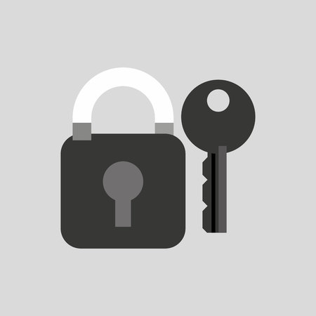encryption icon: security system design, vector illustration eps10 graphic Illustration