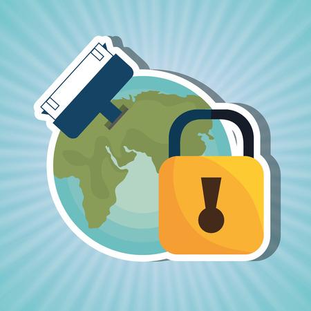 safe world: security system design, vector illustration eps10 graphic Illustration