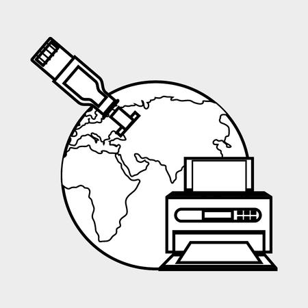 office printer: printer office design, vector illustration eps10 graphic Illustration