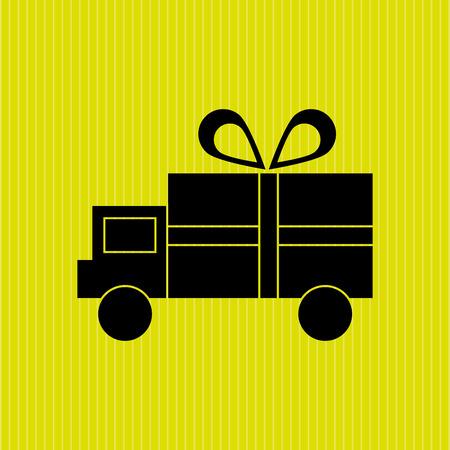 transport truck: delivery service design, vector illustration eps10 graphic