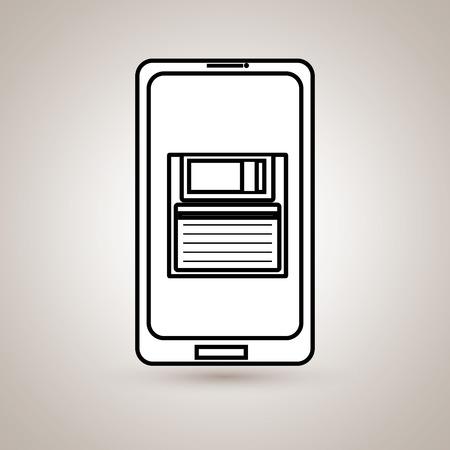 smartphone business: smartphone business design, vector illustration eps10 graphic