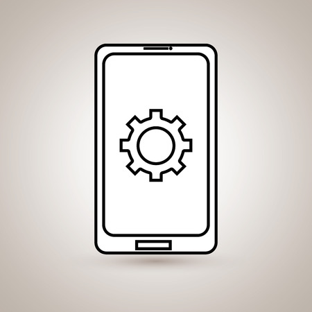 smartphone business: smartphone business design, vector illustration eps10 graphic