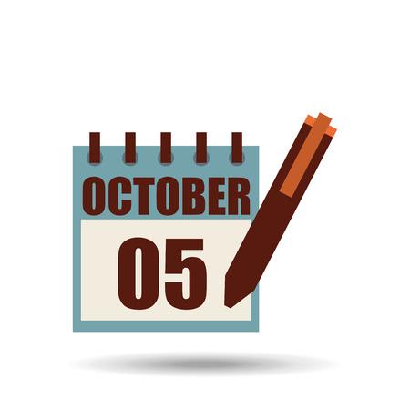 calendar design: calendar icon design, vector illustration Illustration