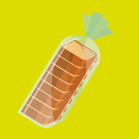 la conception des produits de boulangerie, vecteur illustration graphique eps10