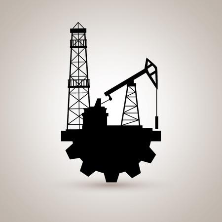 energy icon: oil industry design, vector illustration eps10 graphic Illustration